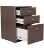 Zuri Pedestal Storage in Wenge Colour by HomeTown