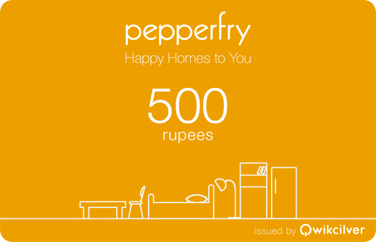 Introducing Peeprfry Gift Cards Starting Rs.500, Upto Rs.10,000 By Pepperfry