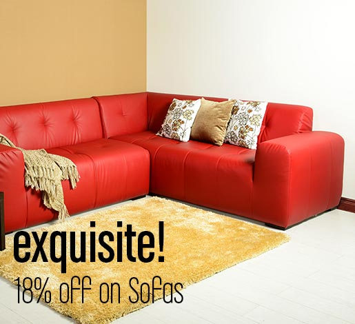 Exquisite! 18% off on Sofas