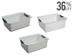 Sterilite Set of 3 Multipurpose Baskets