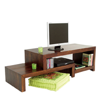 Designer Open Shelf Unit in Honey Medium Finish by Wood Dekor