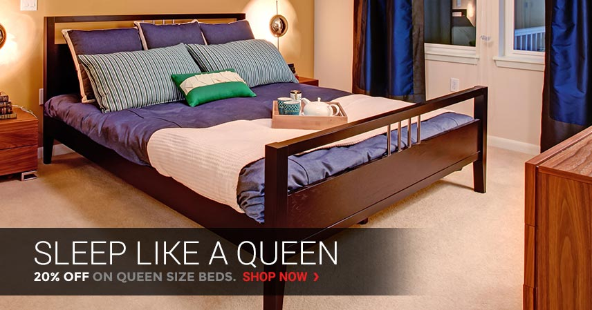 Sleep Like a Queen | 20% Off on Queen Size Beds