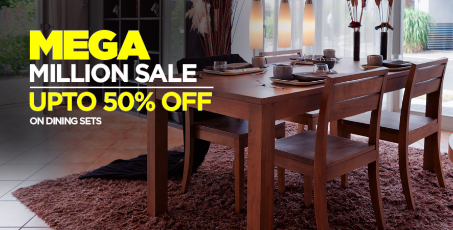 Mega Million Sale upto 50% off on Dining Sets