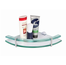 Regis Bathroom Corner Glass Wall Shelf