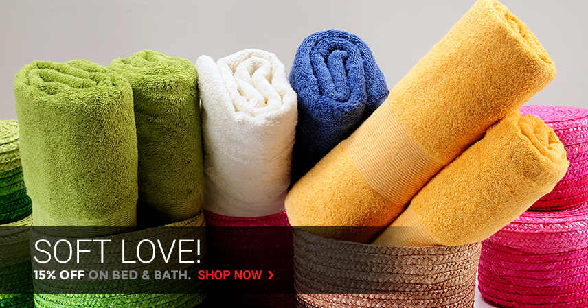 Soft Love! | 15% Off on Bed & Bath