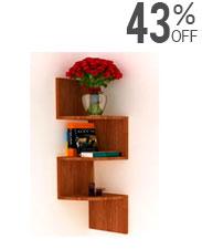 Brown Corner Shelf